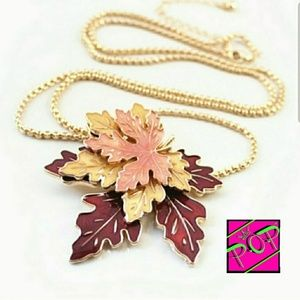 Jewelry - Fall leaf necklace